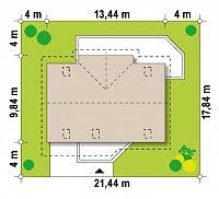 Минимальные размеры участка для проекта Z170