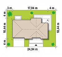 Минимальные размеры участка для проекта Z171