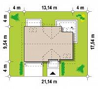 Минимальные размеры участка для проекта Z172