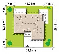 Минимальные размеры участка для проекта Z173
