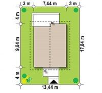 Минимальные размеры участка для проекта Z174