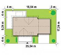 Минимальные размеры участка для проекта Z175