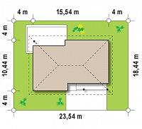 Минимальные размеры участка для проекта Z176