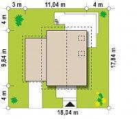 Минимальные размеры участка для проекта Z177 GL