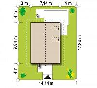 Минимальные размеры участка для проекта Z177