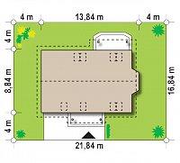 Минимальные размеры участка для проекта Z178 a