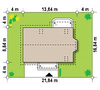 Минимальные размеры участка для проекта Z178