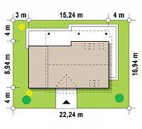 Минимальные размеры участка для проекта Z179
