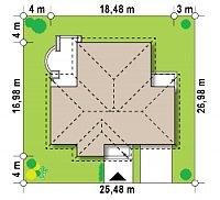Минимальные размеры участка для проекта Z17