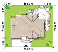Минимальные размеры участка для проекта Z18 GL bk