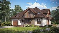Проект дома 10х10 с мансардой Z18 GL bk