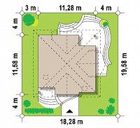 Минимальные размеры участка для проекта Z18 k