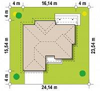 Минимальные размеры участка для проекта Z180