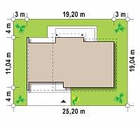 Минимальные размеры участка для проекта Z182