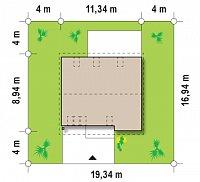 Минимальные размеры участка для проекта Z183