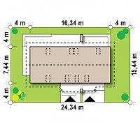 Минимальные размеры участка для проекта Z184