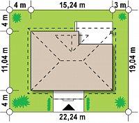 Минимальные размеры участка для проекта Z185