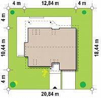 Минимальные размеры участка для проекта Z186