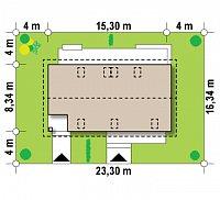 Минимальные размеры участка для проекта Z187