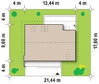 Минимальные размеры участка для проекта Z188