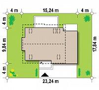 Минимальные размеры участка для проекта Z189