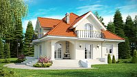Дизайн проект дома в классическом стиле Z18