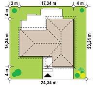 Минимальные размеры участка для проекта Z190