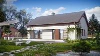 Проект дачного дома с мансардой Z191
