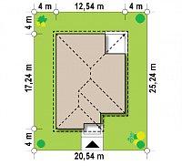 Минимальные размеры участка для проекта Z195
