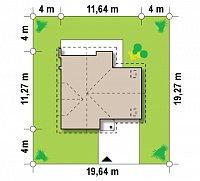 Минимальные размеры участка для проекта Z197