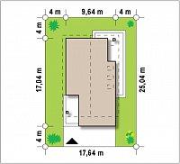 Минимальные размеры участка для проекта Z198
