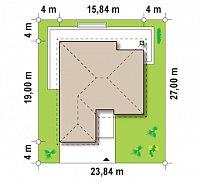 Минимальные размеры участка для проекта Z199