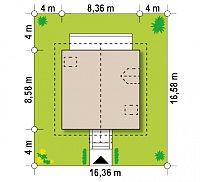 Минимальные размеры участка для проекта Z1