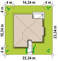 Минимальные размеры участка для проекта Z200 BG