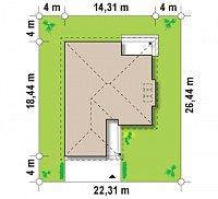 Минимальные размеры участка для проекта Z200