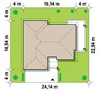 Минимальные размеры участка для проекта Z201