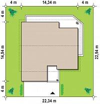 Минимальные размеры участка для проекта Z202