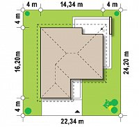 Минимальные размеры участка для проекта Z203
