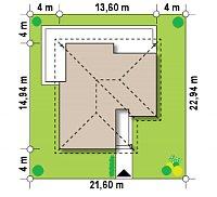 Минимальные размеры участка для проекта Z204 bG