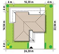 Минимальные размеры участка для проекта Z204