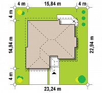 Минимальные размеры участка для проекта Z205