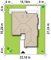 Минимальные размеры участка для проекта Z206