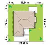 Минимальные размеры участка для проекта Z207