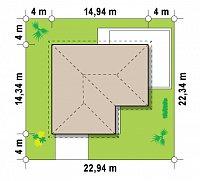 Минимальные размеры участка для проекта Z208 A