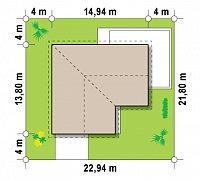 Минимальные размеры участка для проекта Z208