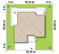 Минимальные размеры участка для проекта Z209