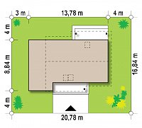 Минимальные размеры участка для проекта Z210 GLt