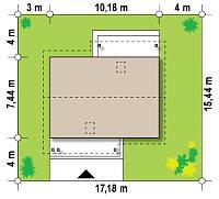 Минимальные размеры участка для проекта Z210 v1