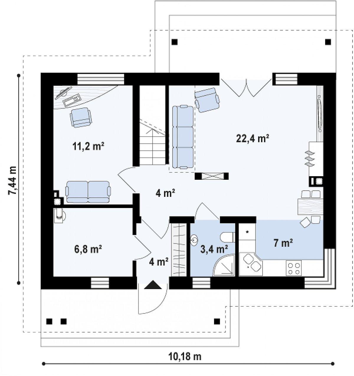 Первый этаж дома Z210 v1