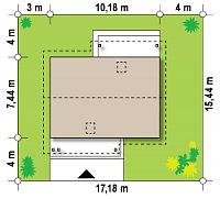 Минимальные размеры участка для проекта Z210